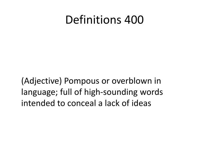 Definitions 400