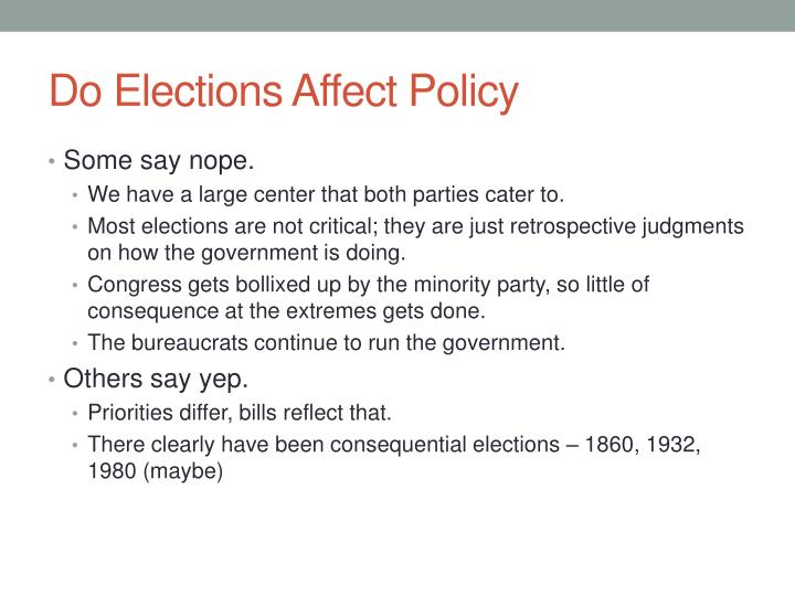 Do Elections Affect Policy