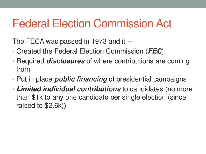 Federal Election Commission Act