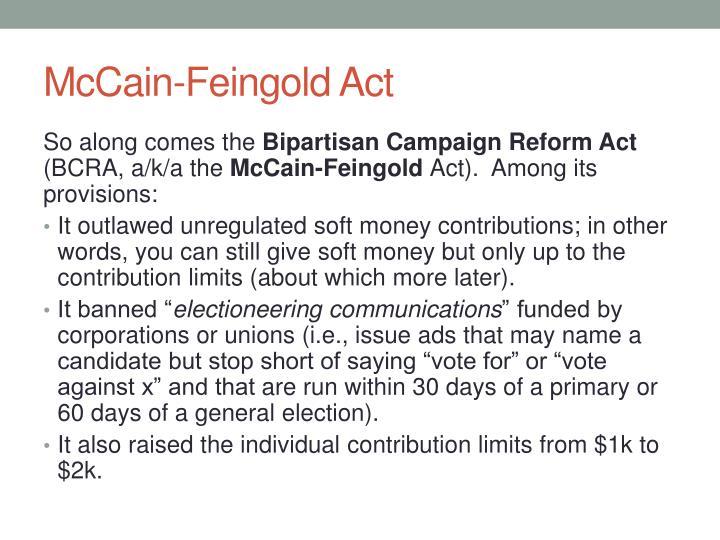 McCain-Feingold Act