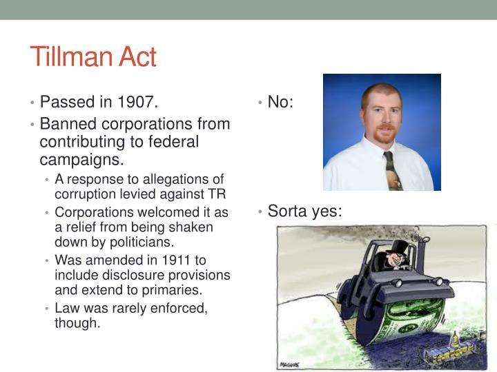 Tillman Act