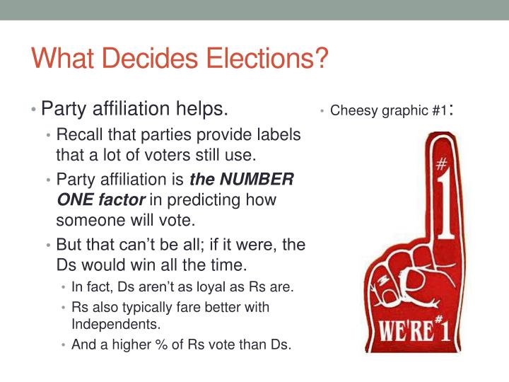 What Decides Elections?