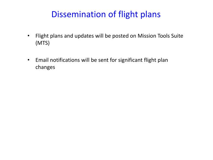 Dissemination of flight plans