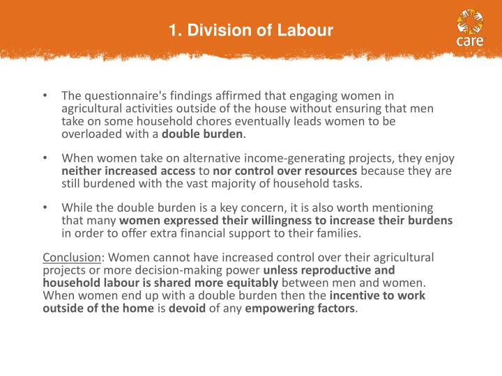 1. Division of Labour