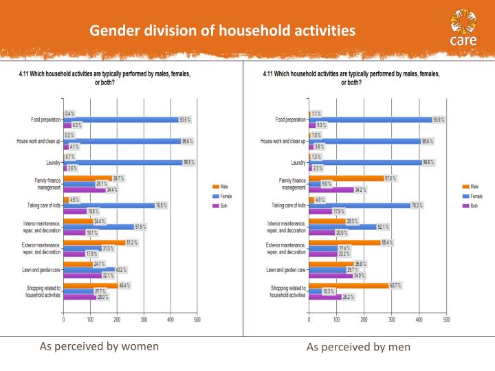 Gender division of household activities