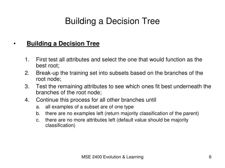 Building a Decision Tree