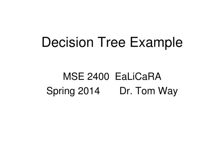 Decision tree example