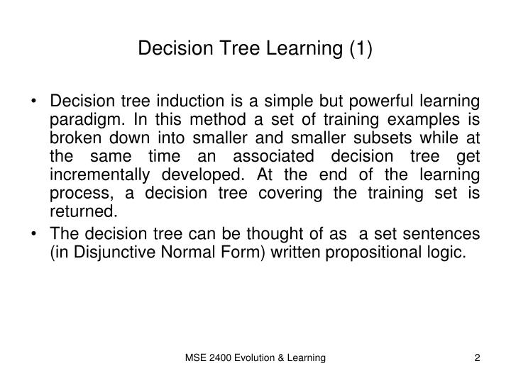 Decision tree learning 1