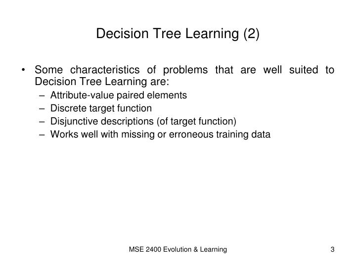 Decision tree learning 2