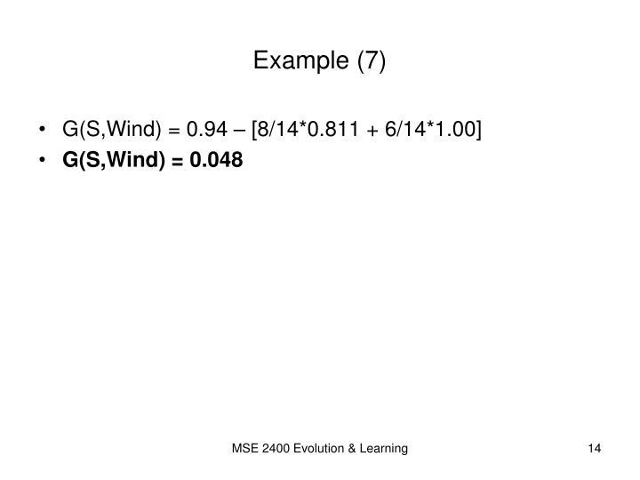 Example (7)