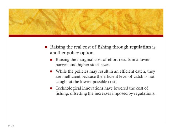 Raising the real cost of fishing through