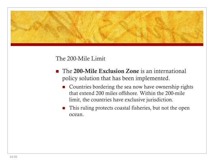 The 200-Mile Limit