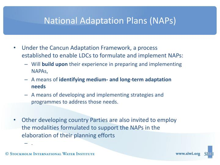 National Adaptation Plans (NAPs)