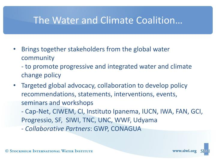 The water and climate coalition