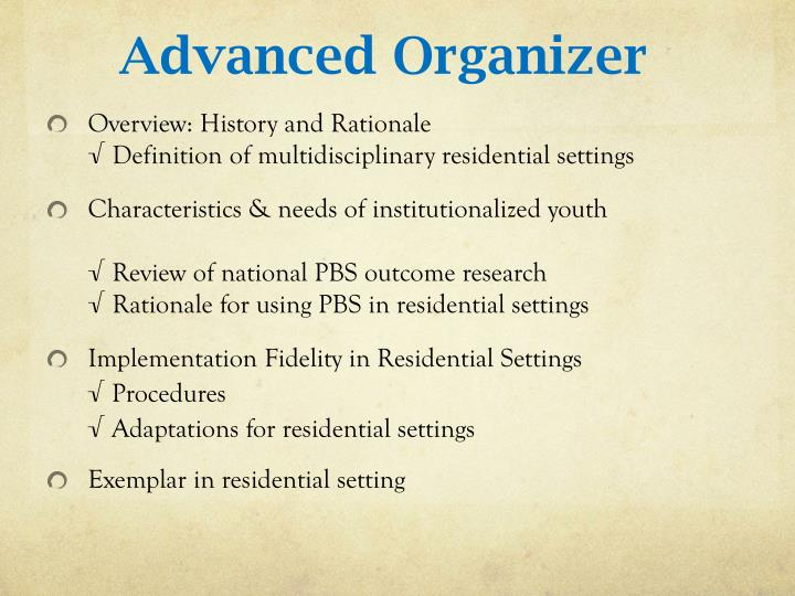 Advanced Organizer