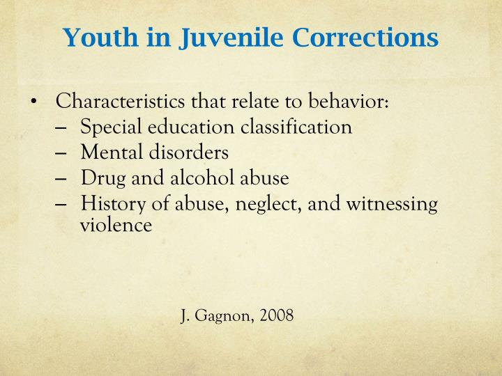 Youth in Juvenile Corrections