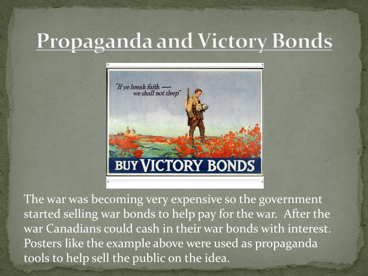 Propaganda and Victory Bonds