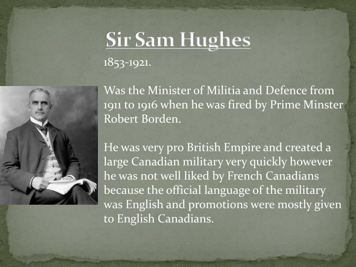 Sir Sam Hughes