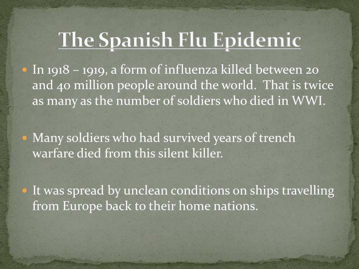 The Spanish Flu Epidemic