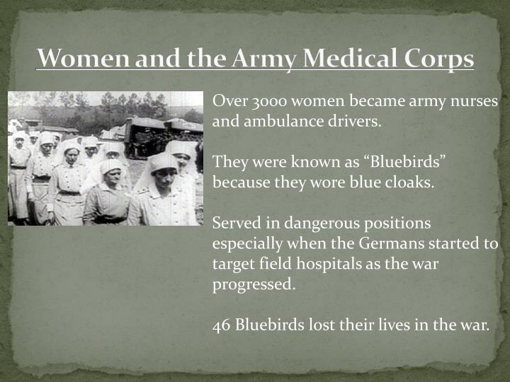 Women and the Army Medical Corps