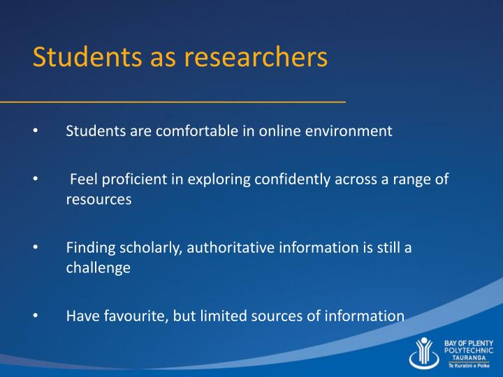 Students as researchers