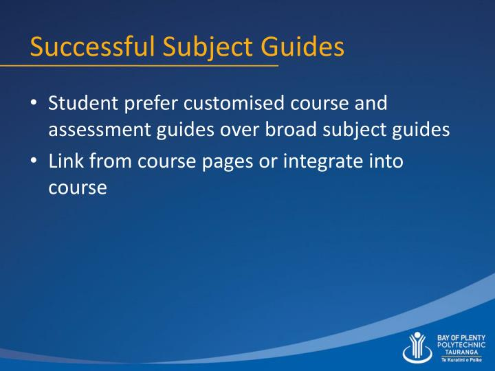 Successful Subject Guides