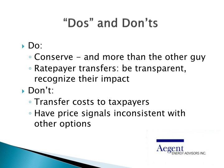 """Dos"" and Don'ts"