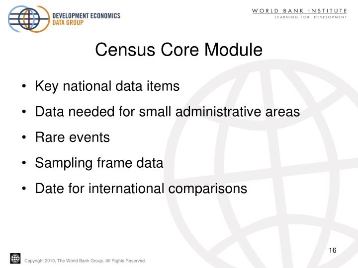 Census Core Module