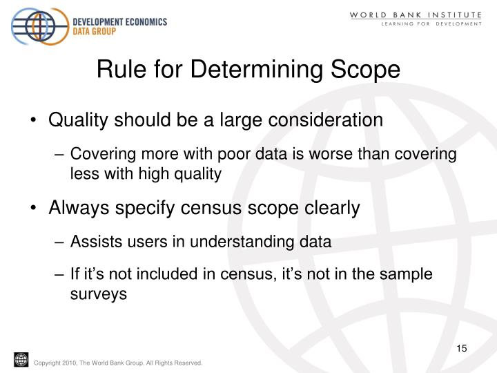 Rule for Determining Scope