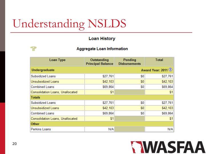 Understanding NSLDS