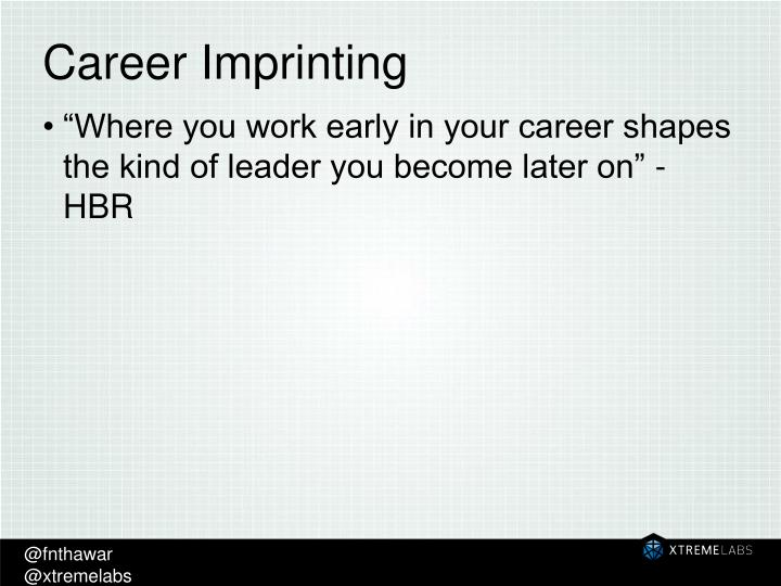 Career Imprinting