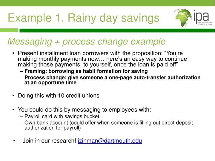 Example 1. Rainy