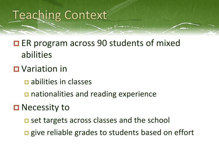 Teaching Context