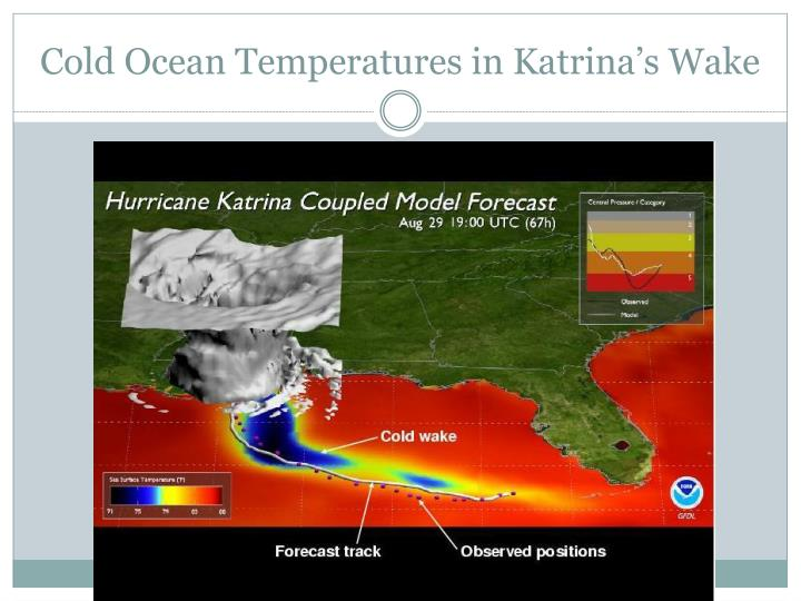 Cold Ocean Temperatures in Katrina's Wake