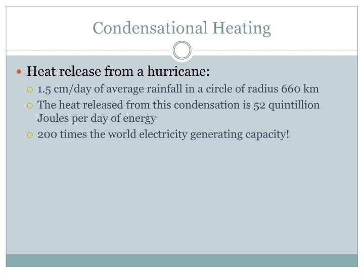 Condensational Heating
