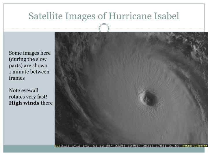 Satellite Images of Hurricane Isabel