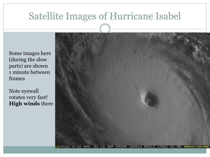 Satellite Images of Hurricane Isabel