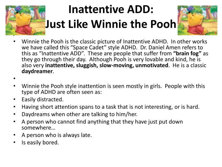 Inattentive ADD: