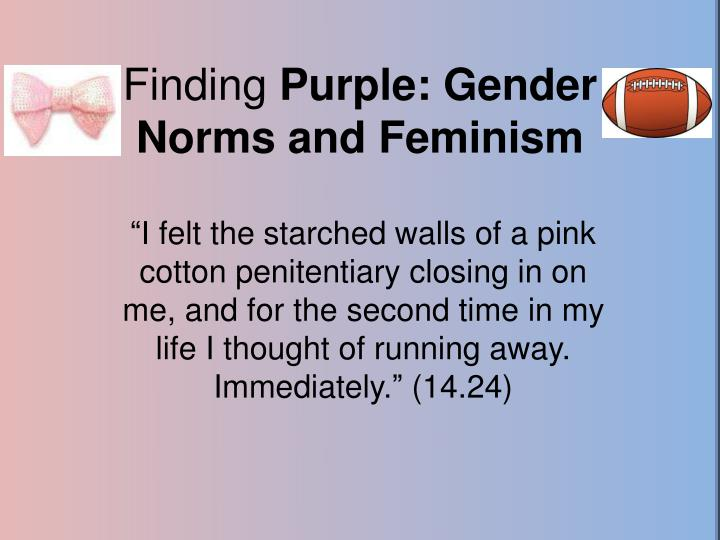 Finding purple gender norms and feminism
