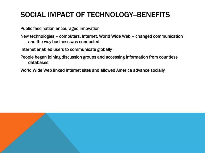 Social Impact of Technology--BENEFITS
