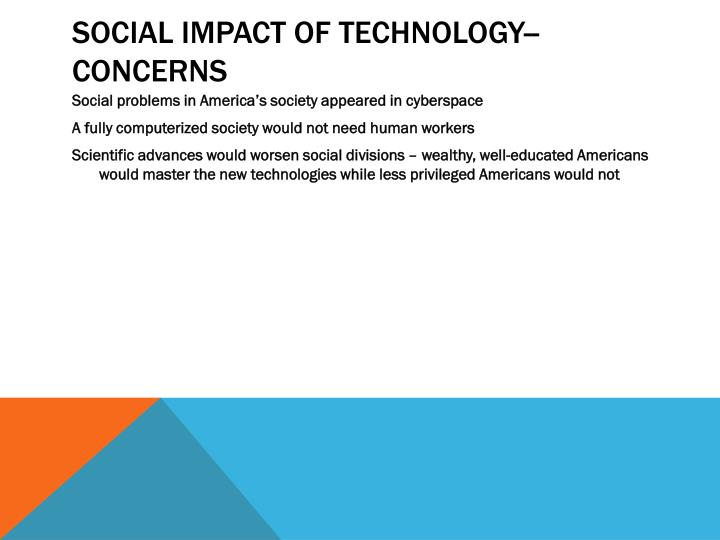 Social Impact of Technology--CONCERNS