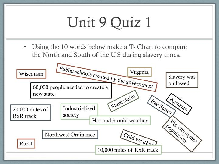 Unit 9 Quiz 1