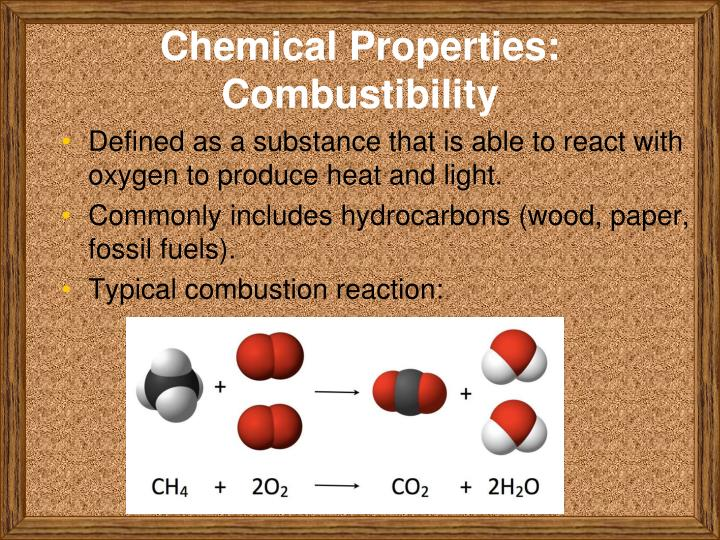 Chemical Properties: Combustibility