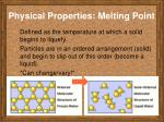 physical properties melting point