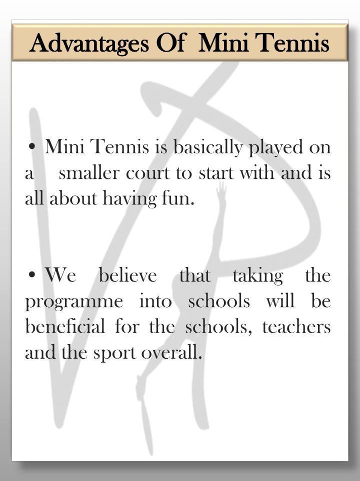 Advantages Of  Mini Tennis