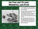on the left flank berneval and puys