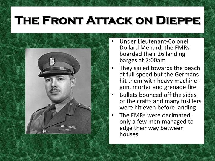 The Front Attack on Dieppe