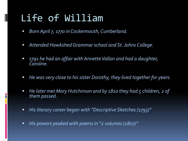 Life of William