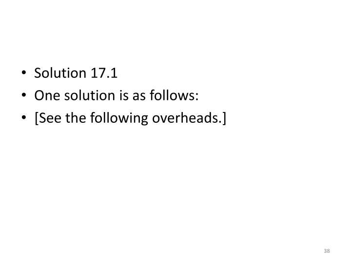 Solution 17.1