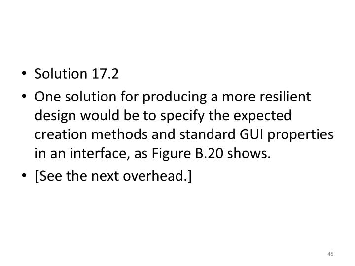 Solution 17.2